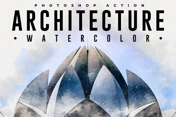 Thumbnail for Architecture Watercolor Photoshop Action