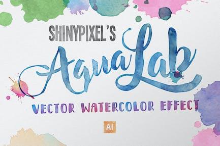 AquaLab - Вектор эффект акварели