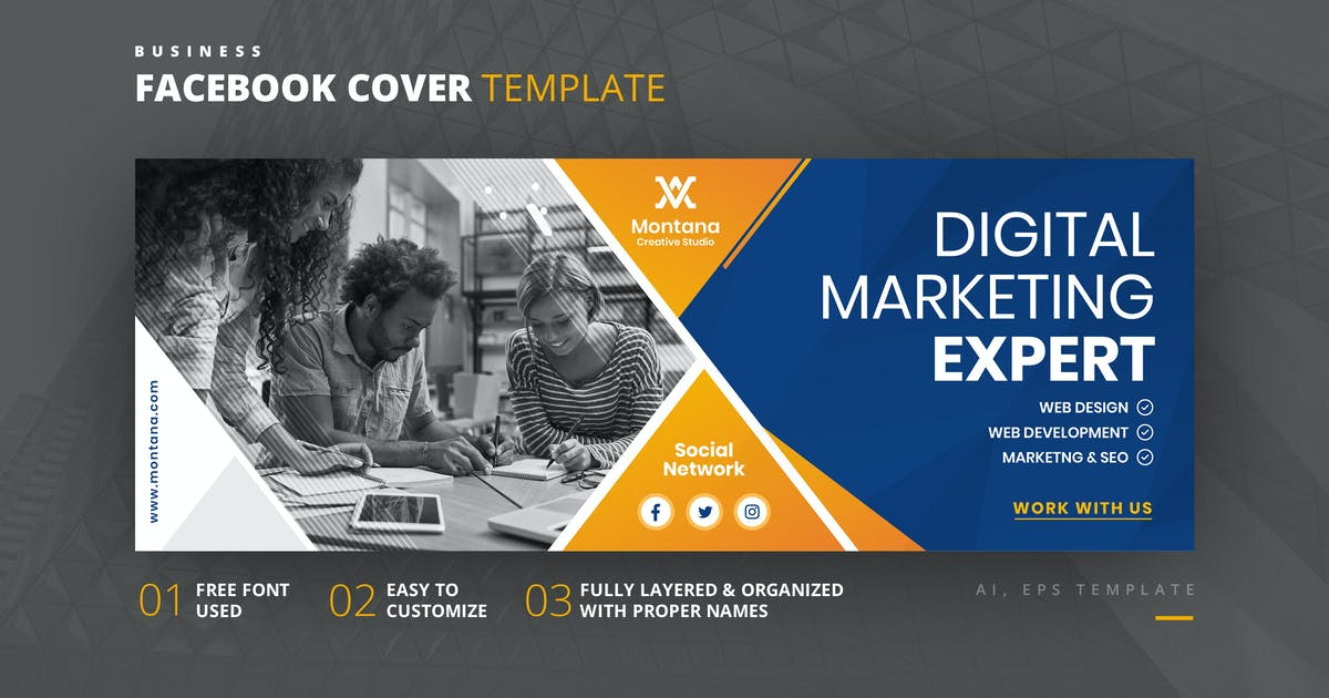 Download Facebook Cover Template by youwes