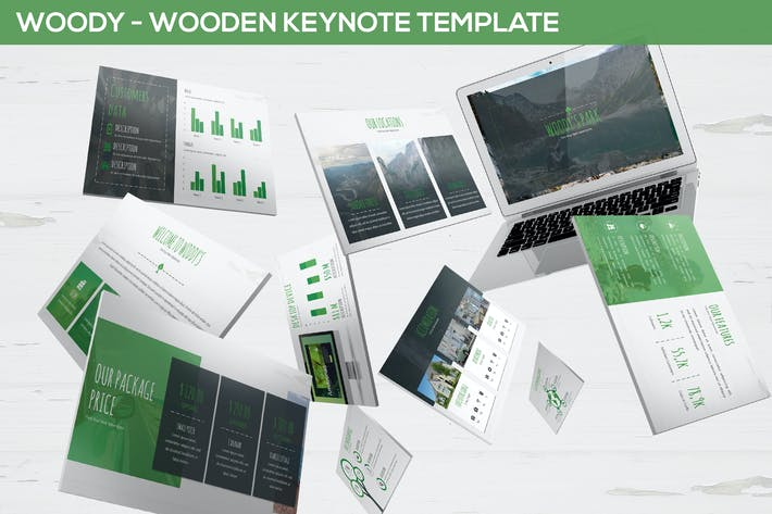 Thumbnail for Woody - Wooden Keynote Template
