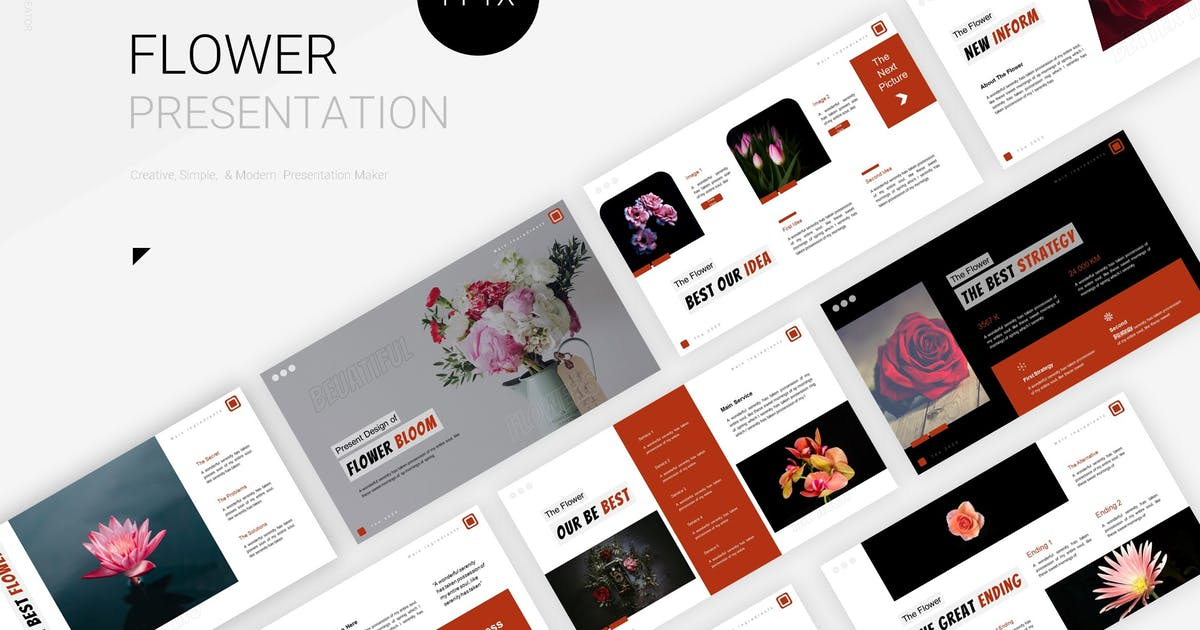 Download Flower Bloom - Powerpoint Template by Fannanstudio