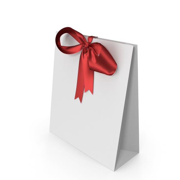 Thumbnail for White Packaging Paper with Red Ribbon Bow