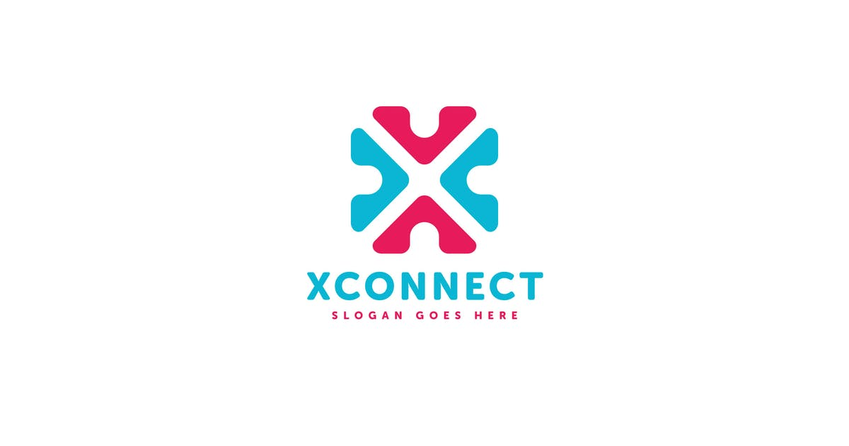 X Connect Letter Logo Template by Pixasquare
