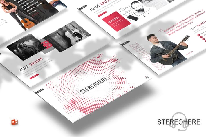 Thumbnail for Stereohere - Music Powerpoint Template