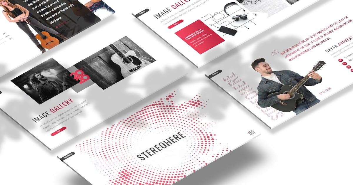 Download Stereohere - Music Powerpoint Template by Macademia