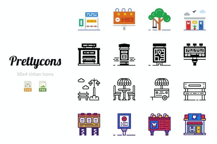 Thumbnail for Prettycons - 200 Urban Icons Vol.1