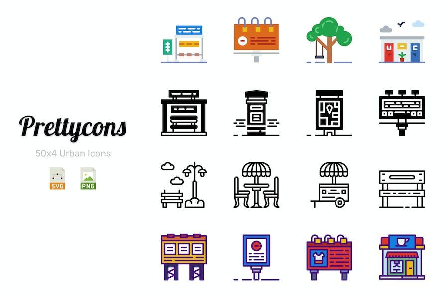 Prettycons - 200 Urban Icons Vol.1