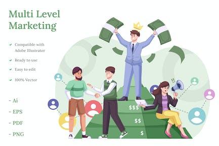 Mehrstufige Marketing-Illustration