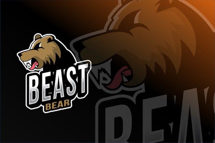 Thumbnail for Beast Bear Esport Logo Template