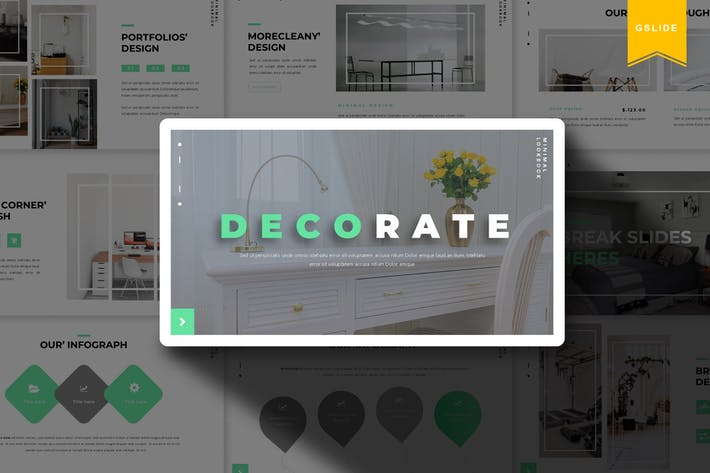 Thumbnail for Decorate | Google Slide Template