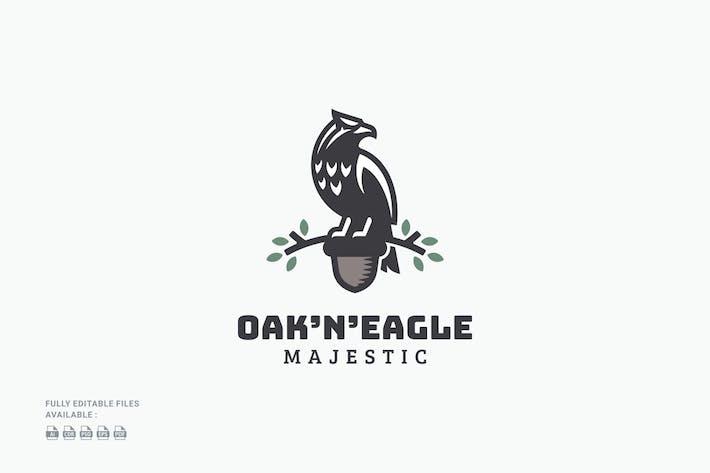 Oak and Eagle Badge Logo