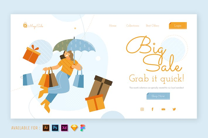 Thumbnail for Grande Vente Happy - Illustration Web