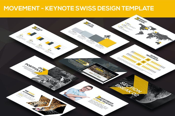 Thumbnail for Movement - Swiss Keynote Template