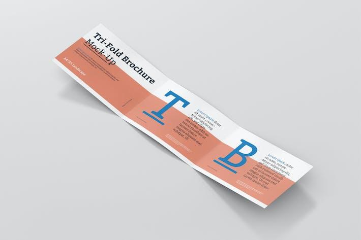 Thumbnail for Tri-Fold Brochure Mockup - Din A4 A5 A6 Landscape