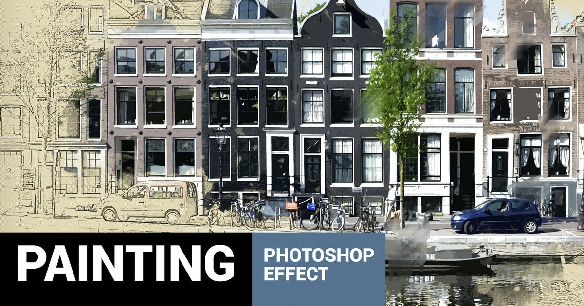 Uniqum - Sketch Painting Photoshop Action by profactions