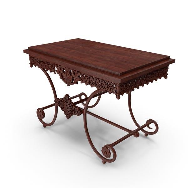 Vintage Table Dark Wood