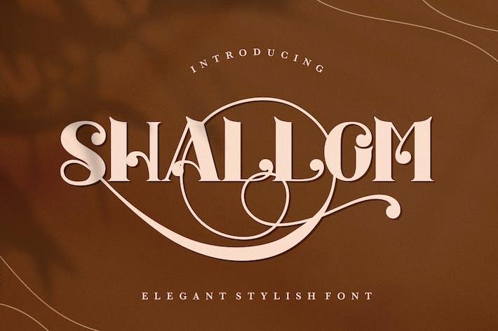 Thumbnail for Shallom - Elegant Stylish Serif Font