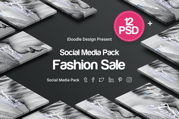 Thumbnail for Social Media Pack - Fashion Sale