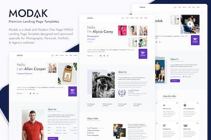 Modak HTML-Vorlage für eine Seite