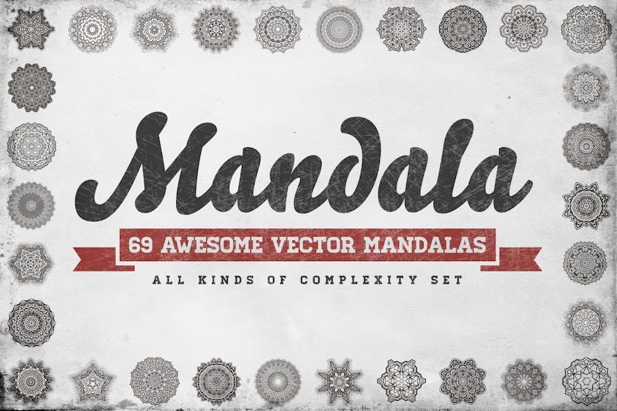 69 Vector Mandala – All Kinds of Complexity Set