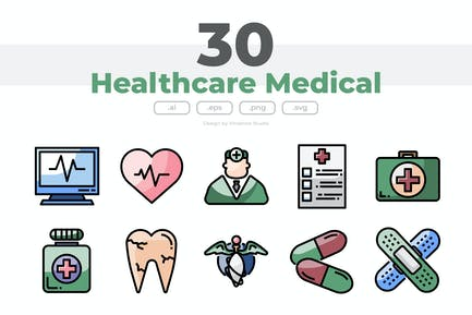 30 Healthcare Medical Icons