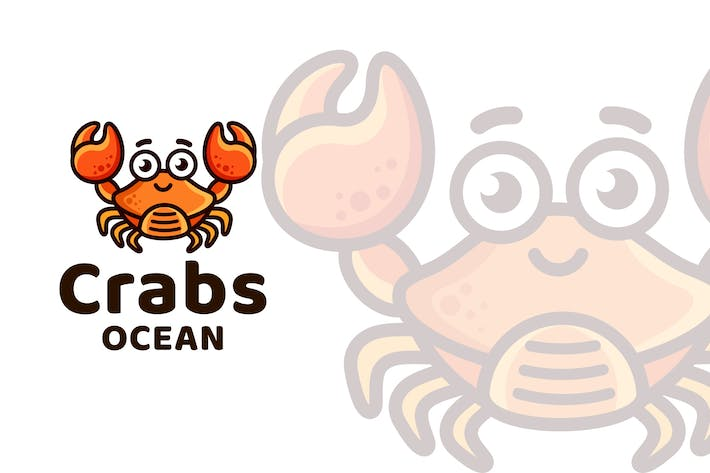 Thumbnail for Crabs Ocean Kids Cute Logo Template