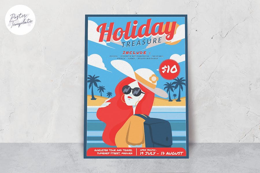 Summer Holiday Poster Template