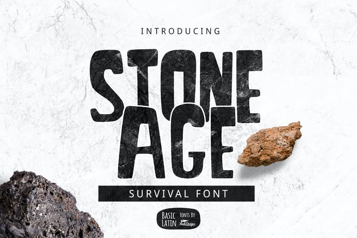 Cover Image For Stone Age Font