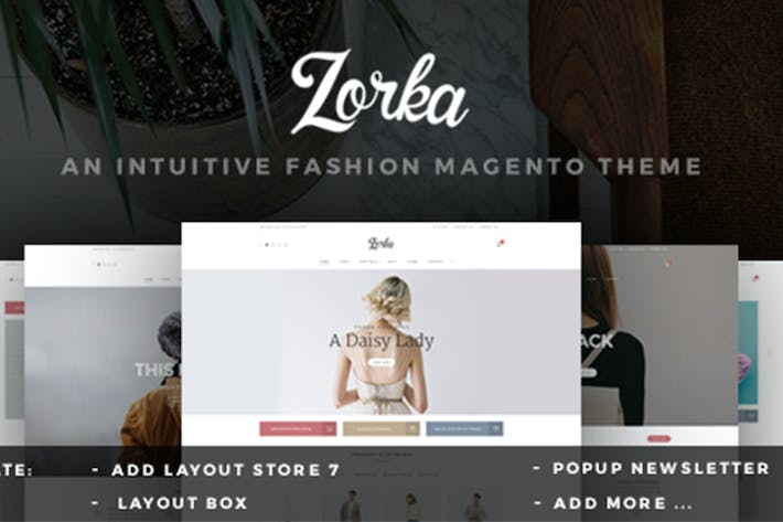 Thumbnail for ZORKA Wonderful Fashion Magento Themes