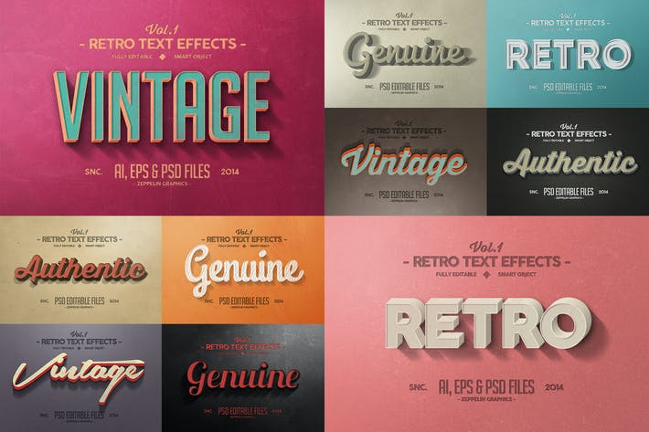 Thumbnail for Vintage Text Effects Vol.1