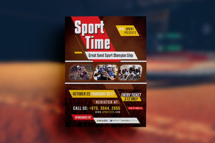 Thumbnail for Sport Event Flyer Template