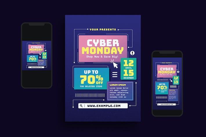 Cyber Monday Event Flyer Set