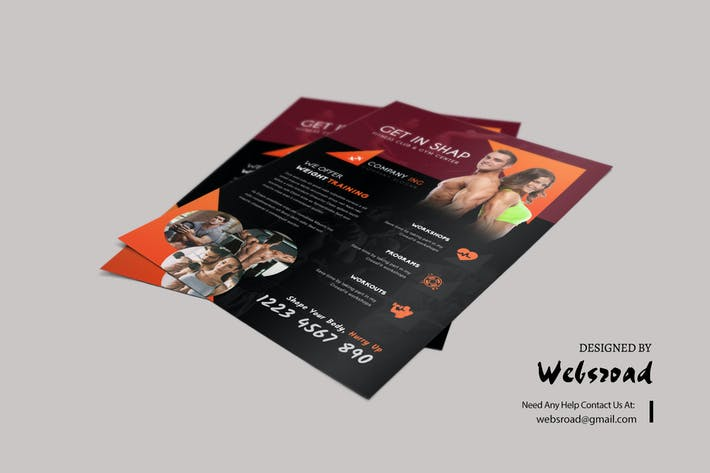 Cover Image For Gym Flyer Template