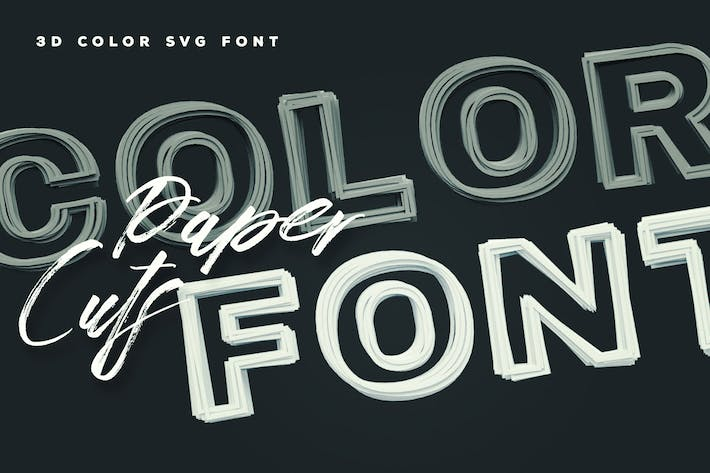 Thumbnail for Paper Cuts Color Font