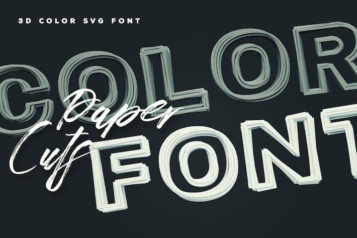 Paper Cuts Color Font