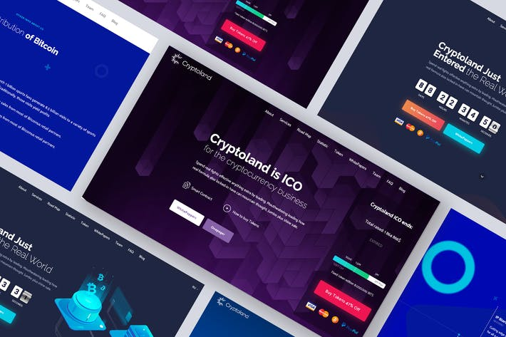 Thumbnail for Onepage Landing Page ICO WordPress Theme