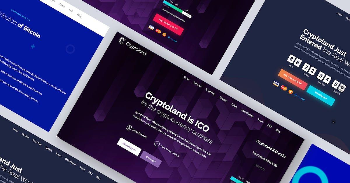 Download Cryptoland - Crypto Bitcoin ICO WordPress Theme by Ninetheme