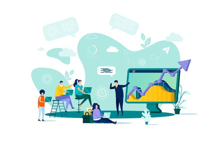 Thumbnail for Business Training Flat Concept Vector Illustration