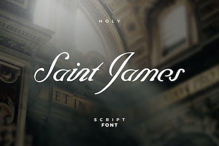 Fuente de escritura de Saint James