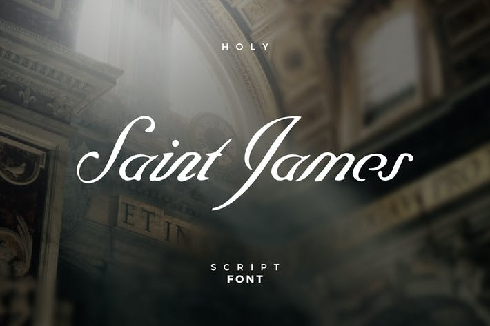 Thumbnail for Saint James Script Police