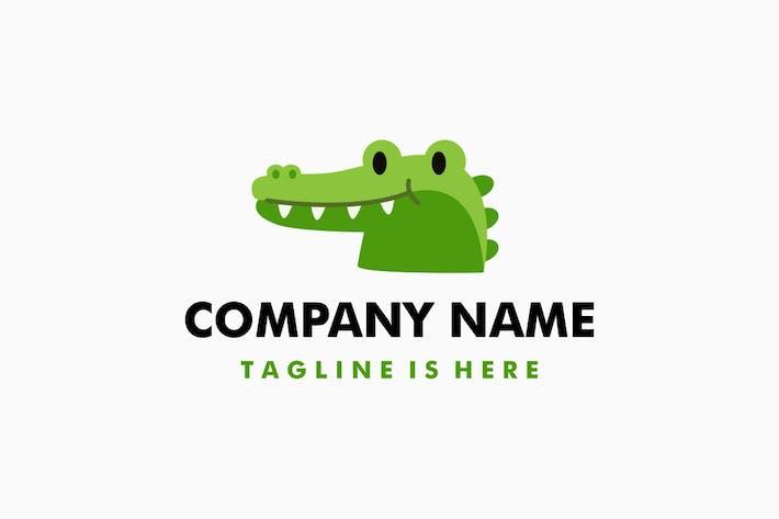 Thumbnail for Cute Little Crocodile Cartoon Logo