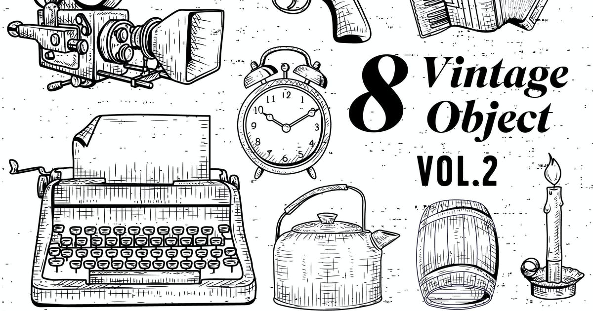 Download 8 Vintage Object - Vol.2 by jiwstudio