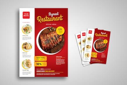 Meat Restaurant Flyer