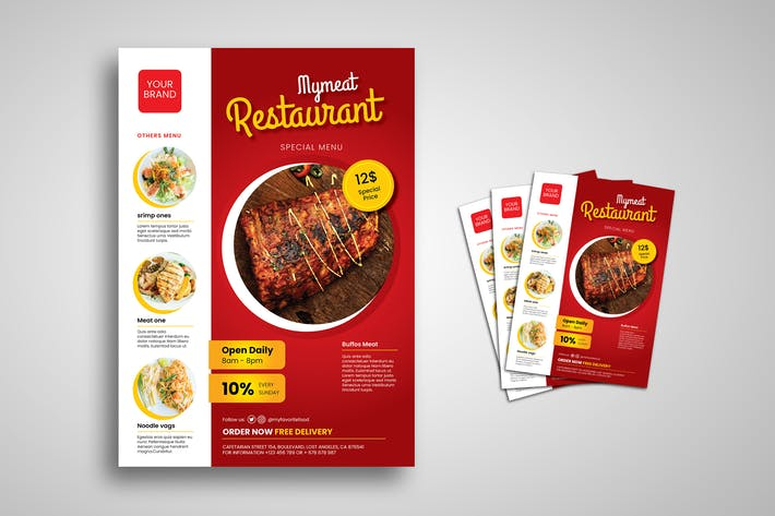 Thumbnail for Meat Restaurant Flyer