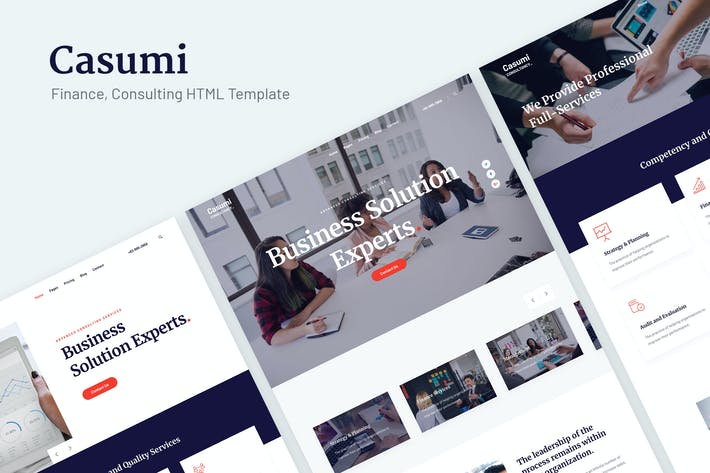Thumbnail for Casumi | Finance, Consulting HTML Template