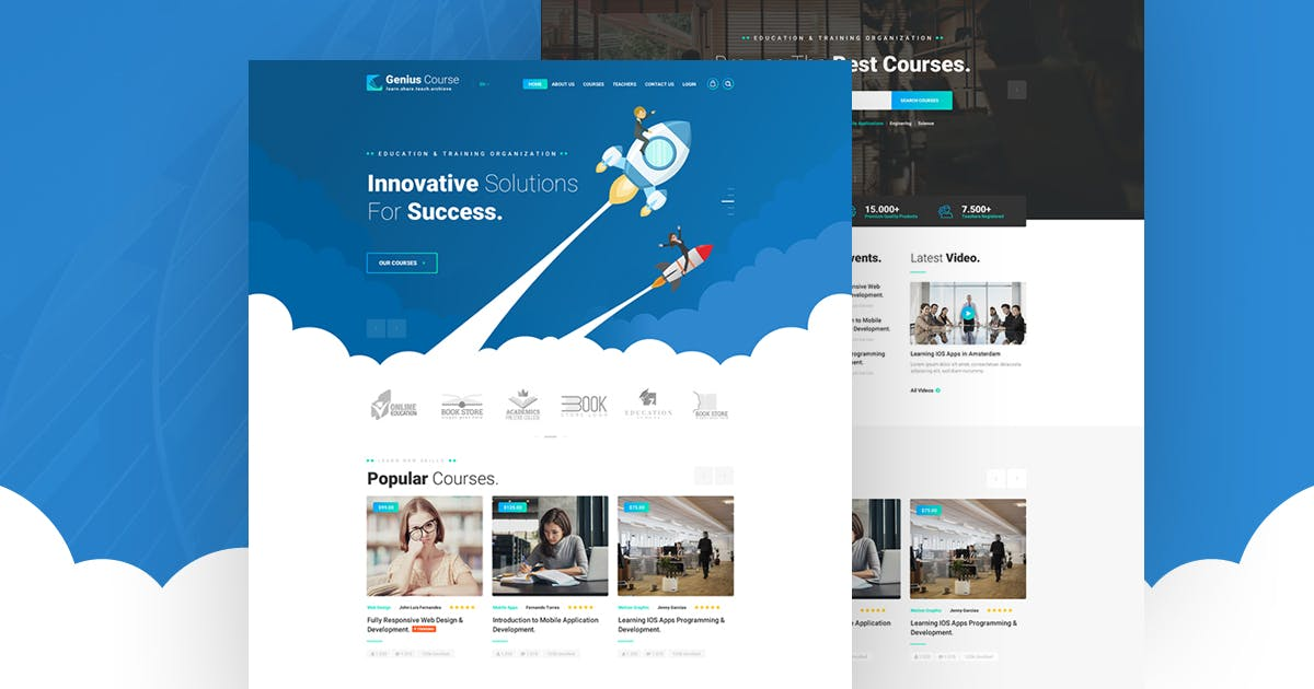 Genius - Learning & Course PSD Template by Last40 on Envato