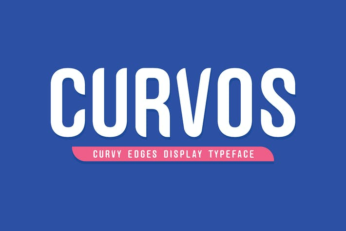 Thumbnail for Curvos Display Typeface + Badge
