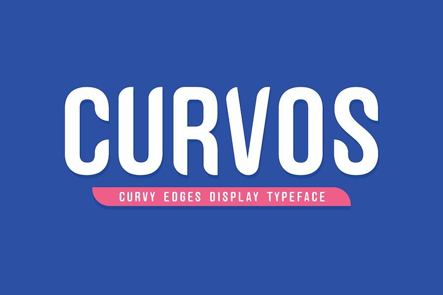 Curvos Display Typeface + Badge