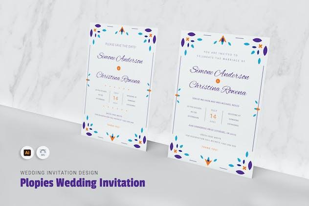 Plopies Wedding Invitation