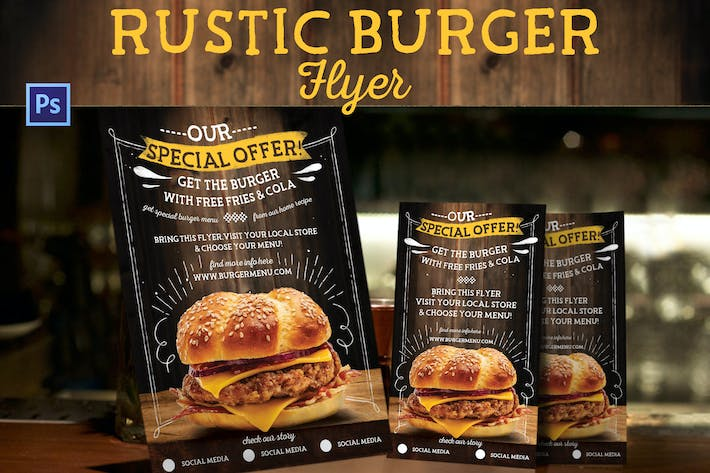 Thumbnail for Rustic Burger Flyer